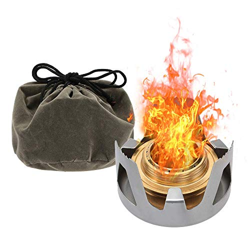 Cheapest Prices! Lzpff Spirit Burner Mini Ultra-Light Alcohol Camping Stove Copper Alloy Furnace for...