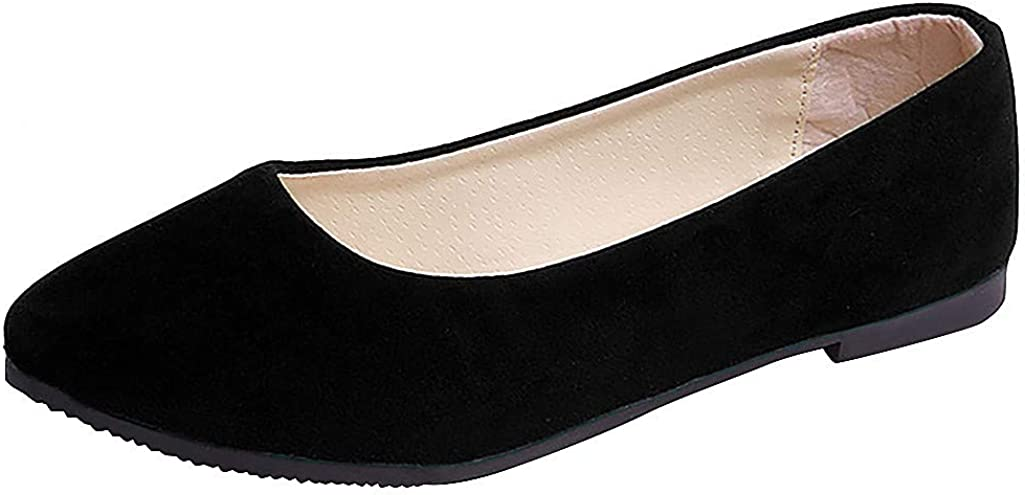 Women's Max 90% OFF Casual D'Orsay Pointed Plain Comfort Soft OFFicial Slip On Ballet