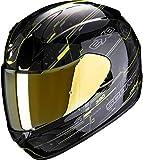 Scorpion Casco de moto EXO-390 BEAT Black-Neon Yellow, Negro/Amarillo, XS