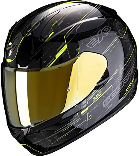 Scorpion Herren NC Motorrad Helm, Schwarz/Gelb, M