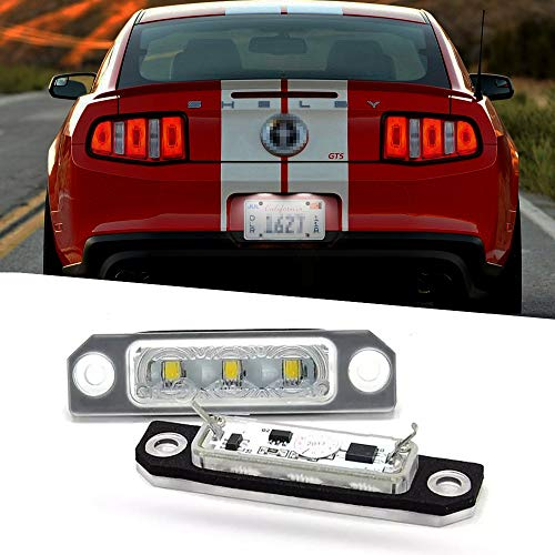 2 pcs/set Car Rear High Brightness White LED License Plate Light Number Plate Lamp for Ford Mustang Flex Focus Fusion Taurus car Accessories