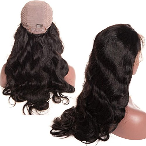 Glueless Body Wave Lace Front Wigs 18 inch Unprocessed Brazilian Virgin Human Hair Wig Pre Plucked Natural with Baby Hair Wig for Black Women