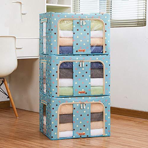 DelongKe Set van 3 opvouwbare opbergdoos, opbergtas Organizers mandje containers met handgrepen waterdicht voor thuiskantoor, deken Comforter beddengoed, kast opbergdozen enz.