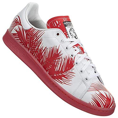 adidas Originals X Pharrell Williams PW Stan Smith BBC Palm S82072 Rojo, color Blanco, talla 36 EU