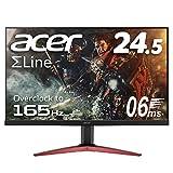 Acer ゲーミングディスプレイ KG251QJbmidpx 24.5型ワイド 165Hz TN 非光沢 1920×1080 フルHD