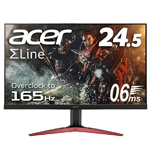 Acer ゲーミングモニター SigmaLine 24.5インチ KG251QJbmidpx 0.6ms(GTG) 165Hz TN フルHD FreeSync フレ...