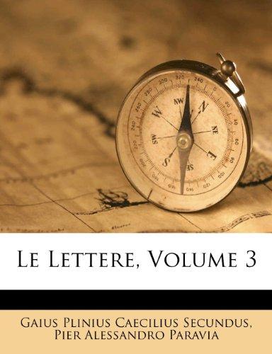 Le Lettere, Volume 3