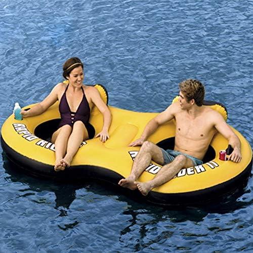 ZPeng Aufblasbares Wasserbett,aufblasbares Wasserspielzeug,doppeltes aufblasbares Bett und schwimmender Stuhl,schwimmende Lounge des Swimmingpools,Strand