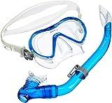 Mares Erwachsene Mask+Snorkel Set Seahorse Tauchset, Blau/Transparent, One Size
