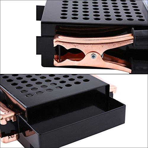 Diseño de probador de batería de automóvil con mango Probador de batería de automóvil Codificación de color Acero inoxidable Material de acero inoxidable Rango de medición de voltaje: 6-12v