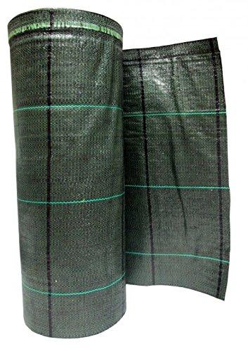 N.G.Niccolai Teli Telo per PACCIAMATURA Verde QUADRETTATO Tessuto Polipropilene ANTISTRAPPO - mt 20 x 1,05 h