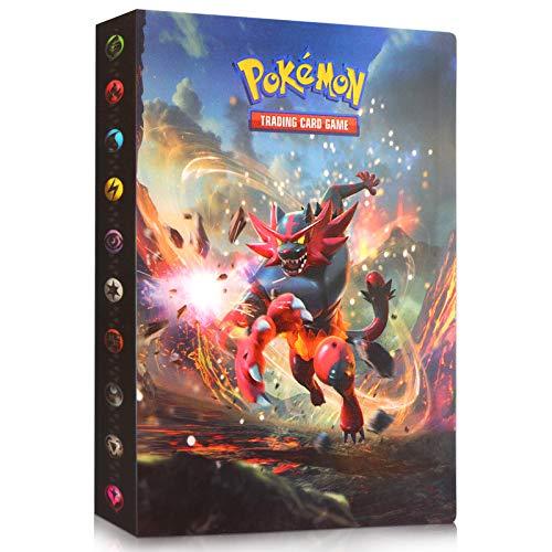 Sinwind Pokemon Sammelalbum, Pokemon Karten Album, Pokemon Karten Halter, Pokemon Ordner Karten Album Buch , 30 seitig Kann bis zu 240 Karten aufnehmen (Roaring Tiger)