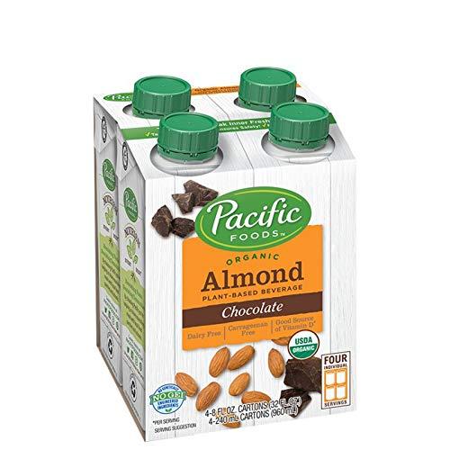 Pacific Foods Almond Milk, Vanilla, 8 oz (24-pack), Shelf Stable, Plant-Based, Vegan, Non GMO