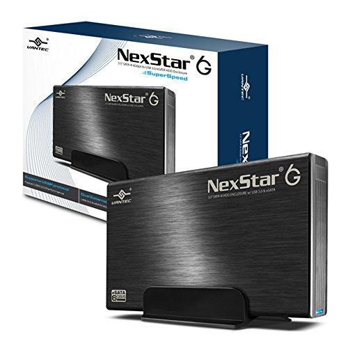 """Vantec 3.5"""" SATA 6Gb/s to USB 3.0/eSATA HDD Enclosure (NST-366SU3-BK) , Black"""
