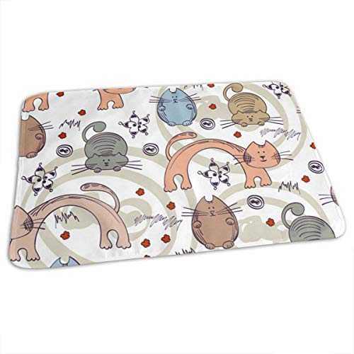 Naughty Kitten - Cambiador para bebé (impermeable, reutilizable, para cambiar pañales, para niño y niña recién nacido)