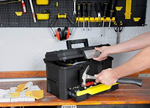 Stanley Werkzeugkiste leer aus Kunststoff 1-70-316 / Werkzeugkoffer mit integrierter Schublade für Kleinteile / Maße: 48.1 x 27.9 x 28.7 cm - 13