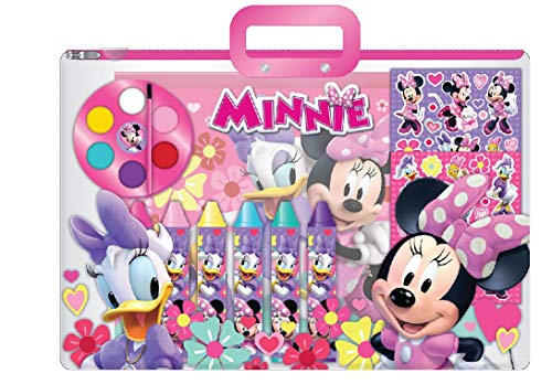 Disney Minnie Mouse Stationary and Paint Tote 12 Piece Set
