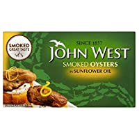 John West Smoked Oysters in Sunflower Oil (85g) ジョンは西のひまわり油でカキをスモーク( 85グラム)