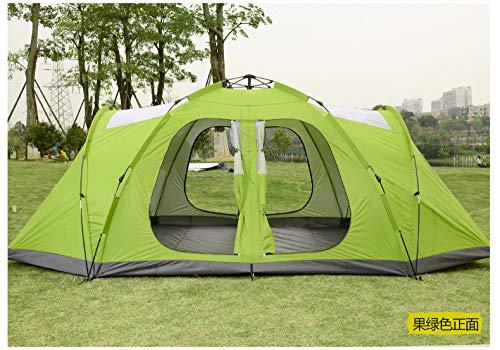 AOGUHN tent - Ultralarge Automatische 2 Slaapkamer 1 Hal Dubbele Laag 5-8 Persoon Gebruik Camping Tent Grote Gazebo Familie Tent