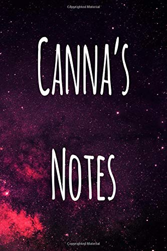 Canna's Notes: Personalised Name Notebook - 6x9 119 page custom notebook- unique specialist personalised gift!
