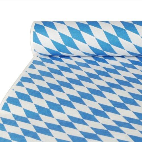 Papstar 12543 Damasttischtuch Tischdecke Raute Oktoberfest, 10 x 1 m, bayrisch blau