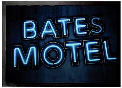 1art1 Psycho - Bates Motel Fußmatte Innenbereich und Außenbereich | Design Türmatte 70 x 50 cm