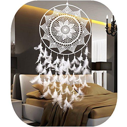 Dream Catchers Large White Handmade Big Decorative Hanging Dia 15.7 inch