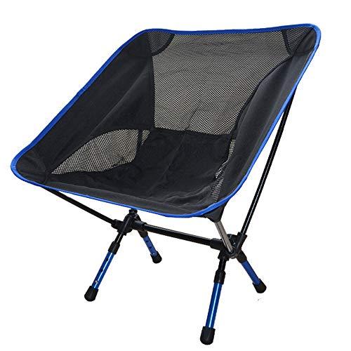 ZHANGJN Chaise de Camping Pliable ultralégère en Aluminium pour extérieur, pêche, Festival, Plage, Voyage, randonnée, Alliage, Bleu, Size 0.00watts