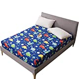 HAIBA Protector de colchón impermeable transpirable con correas de esquina, 200cmX200cmX30cm