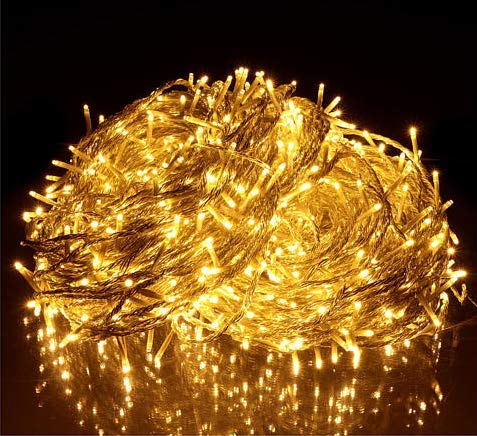 KAQ 2Pack Total 300LED Extendable String Lights Indoor/Outdoor, Super Bright Christmas Lights with 8 Modes, More Durable Decorative String Lights for Xmas Tree Garden Patio Wall Decor (Warm White)