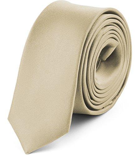 Ladeheid Herren Schmale Krawatte SP-5 (150cm x 5cm, Ecru)