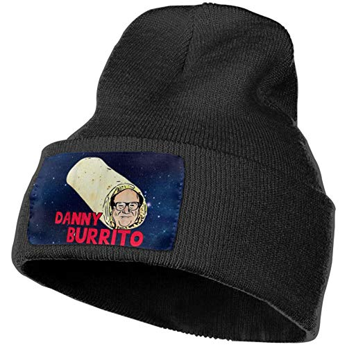 Luomingg Danny Devito Burrito Sunbonnet Headgear Knit Hat Knitted Beanies Cap Black