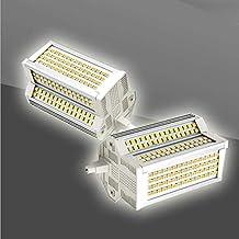 2x Dimbare 50W R7S LED-Lamp Equivalent Aan 500W Halogeenlampen 4000K Double Eindigd J118 Floodlight 220 Graden Indoor En O...