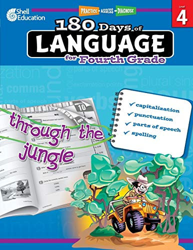 180 Days of Language for Fourth Grade: Practice, Assess, Diagnose (Practice, Assess, Diagnose: Level 4)