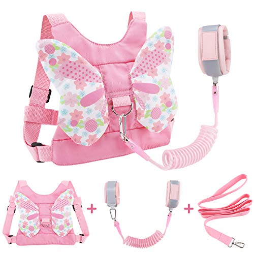 Accmor 3 in 1 Toddler Harness Leashes + Anti Lost Wrist Link, Kids Harness Children Leash for Girls, Child Anti Lost…