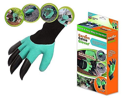 Garden Genie | Guantes de jardinería que te permiten cavar y plantar sin herramientas