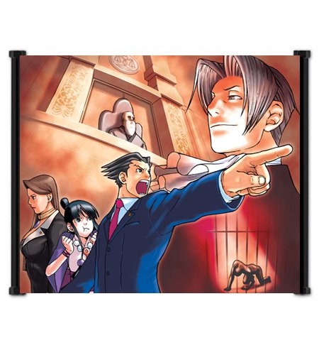 Ace Attorney Phoenix Wright Video Game Fabric Wall Scroll Poster (21' x 16') Inches