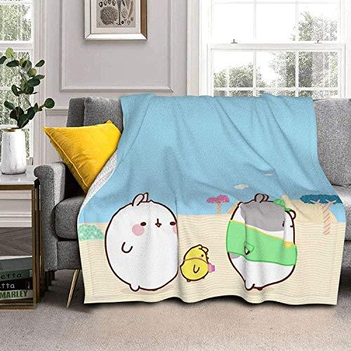Three Animals Lamb Wool Throw Blankets Silver Fox Fur Blanket Ultra-Soft Throw Blanket for Sofa Bed Men Women & Baby
