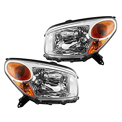 Epic Lighting OE Fitment Replacement Headlights Assemblies Compatible with 2004-2005 RAV4 [ TO2518103 TO2519103 8110642280 8110542280 ] Left Driver & Right Passenger Sides Pair