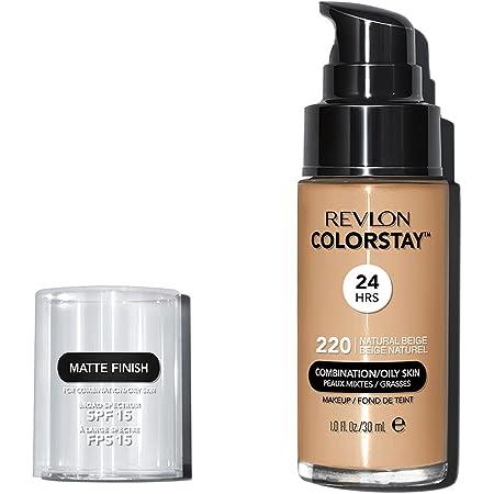 Revlon ColorStay Base de Maquillaje piel mixta/grasa FPS15 30ml, #220 Natural Beige