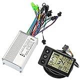 Lixada Panel de Pantalla LCD Kit de Controlador sin Escobillas para Bicicleta Eléctrica Scooter Eléctrico