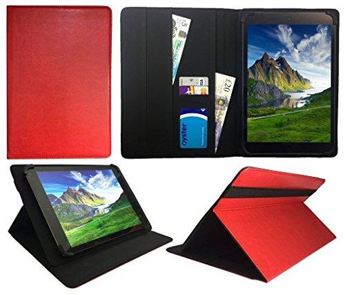 Sweet Tech Denver TAQ-10252 / TAQ-10253 / TAQ-10283 10.1 Zoll Tablet Rot Universal Wallet Schutzhülle Folio (10-11 Zoll)