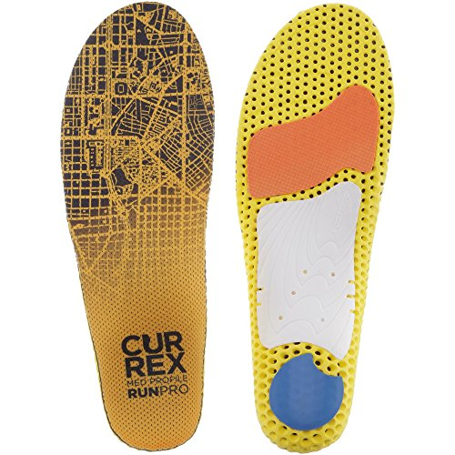 CURREX RunPro Sohle – Entdecke Deine Einlage für eine neue Dimension des Laufens, Dynamische Einlegesohle, Gelb- Med Profile Gr.- EU 44.5-46.5/ XL