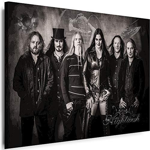 Myartstyle - Bilder Nightwish Band 80 x 60 cm Leinwandbild XXL - Wandbild 1 Teilig - Gerahmter Kunstdruck Musik w-s-2023-158