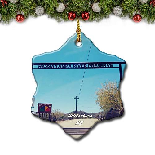Umsufa Wickenburg Hassayampa Preserve Arizona USA Christmas Tree Ornament Travel Gift Souvenir 3 Inch Porcelain Double Side