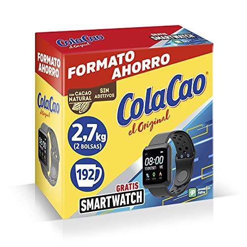 ColaCao el Original con Cacao Natural, con Smartwatch, 2 x 1.35kg