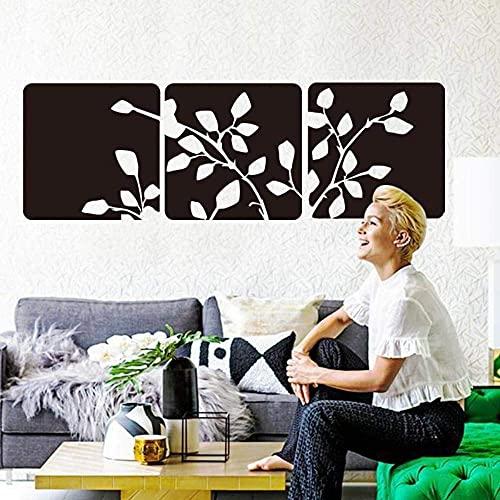 29X89 Cm Diseño De Arte Hermosa Hoja Pegatina De Pared Vinilo Cuadrado Flor Pegatina De Pared Moderno Plano Decoración Del Hogar Sala De Estar Dormitorio