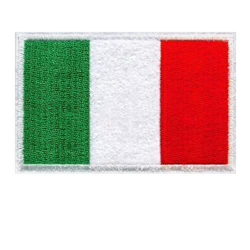 Toppa Bandiera Italia – Toppa Termoadesiva Ricamata Emblema Nazionale, Patch Militari Bandiera Italiana, Applicazione da Cucire o da Stirare per Tessuti (8.5 x 5.6 cm)