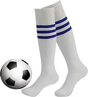Striped Tube Socks, Unisex Knee High Football Volleyball Baseball Cheerleading Sports Socks Long Tube Soccer Socks