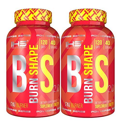IHS BURN SHAPE | Bruciagrassi termogenico forte | Formula avanzata dimagrante pre allenamento | Pillole dimagranti (240 cápsulas)